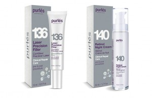 Purles ZESTAW 140 + 136  Retinol Night Cream + Laser Precision Filler